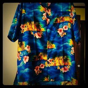 Other - Men's retro Hawaiian shirt. 100% silk